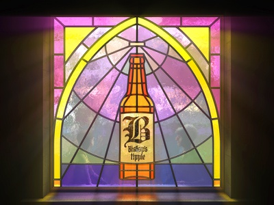 Sanctuary wadworth illustration glass stained cinema4d bar pub beer ale