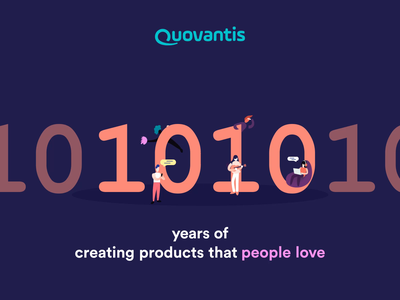 10 Year anniversary loop anniversary decade emoji celebration branding icon binary