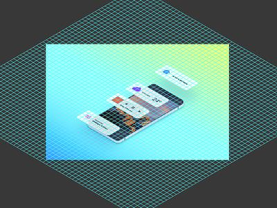 iOS Widgets 3d gradient ssr orthographic isometric ios widget
