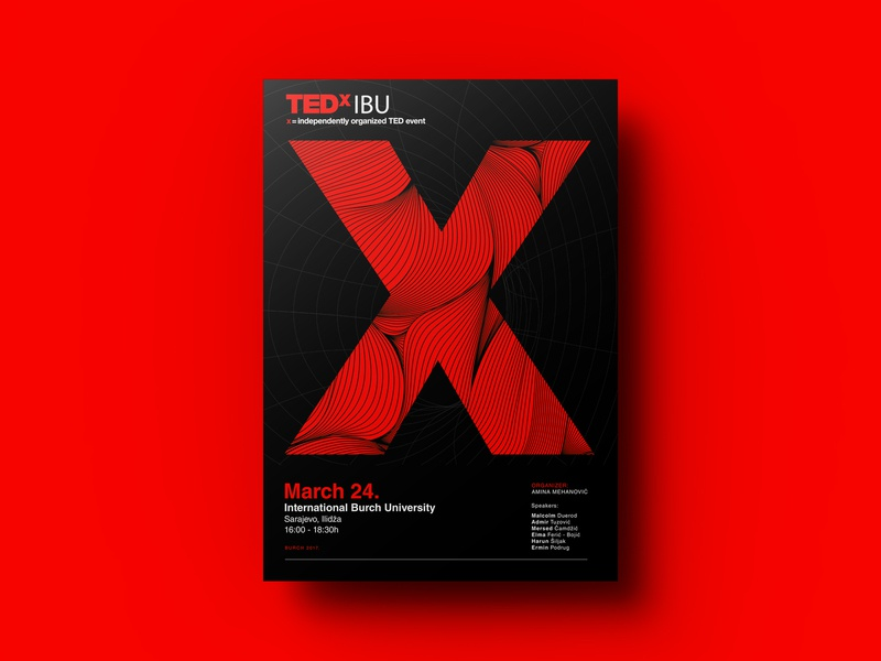 TEDxIBU Visual Idenity visual identity logo clean logo minimalistic logo red and black minimalistic design minimalistic type flat illustration branding typography design visual  identity event branding event tedx ted