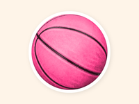 Real basketball sticker