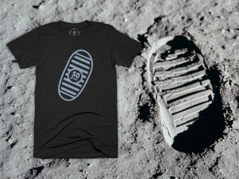 Apollo's 50th Anniversary illustration affinity designer cotton bureau t-shirt vector