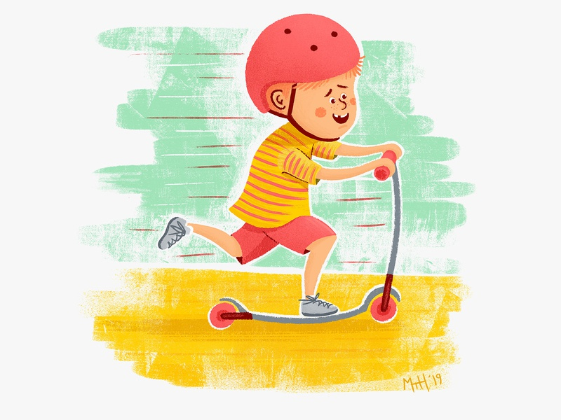 Kids On Wheels #1 fast speed scooter boy kid lit kid childrens books children books children art children childrens illustration children book illustration children book illustration childrens book character picture book