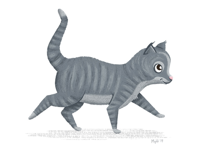 Gray Kitty Following 2 of 3 picturebook art picturebook follow following kitten kitty cat kitty cat childrens lit childrens books children books children art children childrens illustration children book illustration children book childrens book illustration character picture book