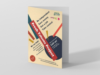 Youth employabilty project flyer A5 typography design graphic design a5 flyer