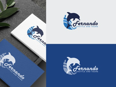 Fernando Shuttle & Tours travel business logo vector design corporate identity clean design brand identity brand modern logo logo branding
