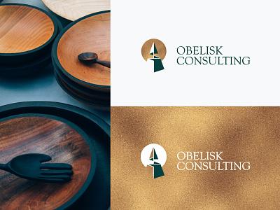 Obelisk Consulting artist modern logo design concept creative corporate identity brand identity consulting logo business logo brand logo branding