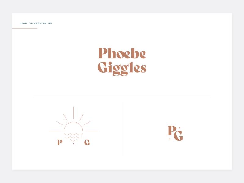 Logo option 03 - Phoebe Giggles clean type feminine blog minimal illustration lifestyle branding logo typography