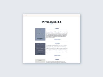 Writing Skills 1.4 Homepage blog graphics monochrome clean website wordpress blog typography minimal blog ui wordpress