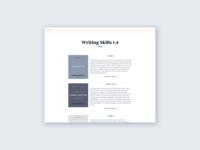 Writing Skills 1.4 Homepage
