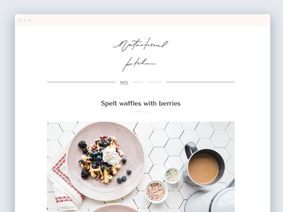 Nutritional Kitchen Blog squarespace food clean typography webdesign minimal lifestyle fitness nutritional whitespace logo blog