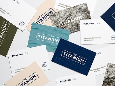 Titanium Ties Business Cards identity rustic bold design stationery print minimal branding logo mockup cards business