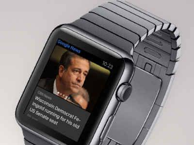 Google News  for WatchOs watchos watch apple lead design product