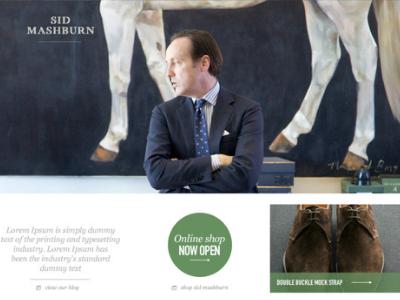 Sid Mashburn.com (pitch work) ui design visual art direction creative