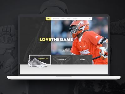 Nike Lacrosse ui design visual art direction creative