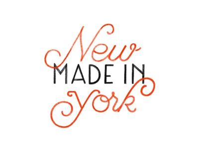 Made in New York lettering hand lettering