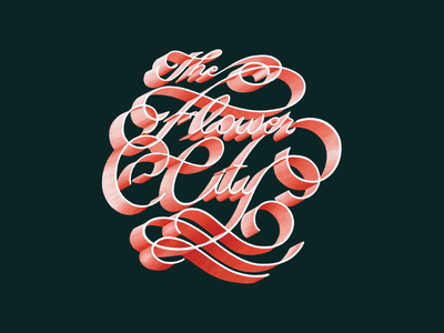 The Flower City drawing typography lettering hand lettering