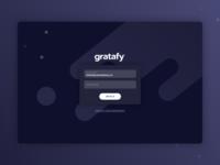Gratafy Dashboard Login Page