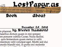 Lost Papyrus Font Change