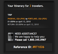 Itinerary Confirmation