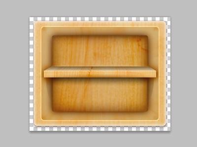 Shelf in Progress wood shelf icon