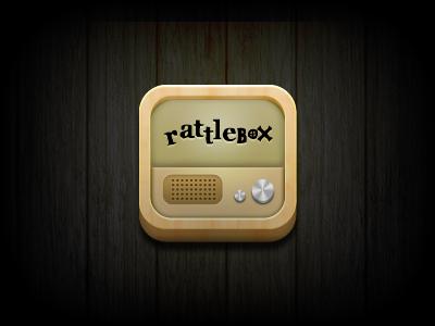 Rattlebox Icon ios icon wood tv rattlebox