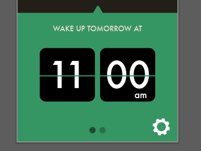 Wake up tomorrow ios app alarm flipclock