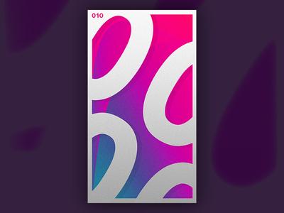 010 : 0000 abstract randomize shadows numbers gradient vibrant challenge dailychallenge random adobe simple minimal graphic design design