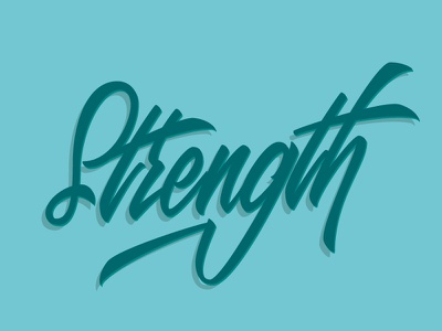 Strength Lettering vectorize strength lettering