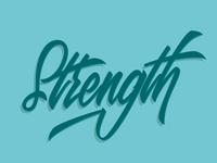 Strength Lettering