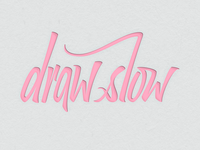 Drawslow Logo WIP