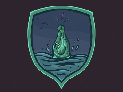 Crocodile & Bird mascot gregorsart graphic design logo illustration