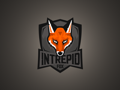 Intrepid Fox Gaming illustration sports gaming esports aggressive animal branding logotype logo mascot fox