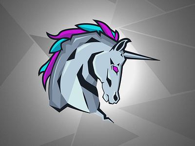 Evil Unicorn unicorn logodesign branding esports mascot logo illustration