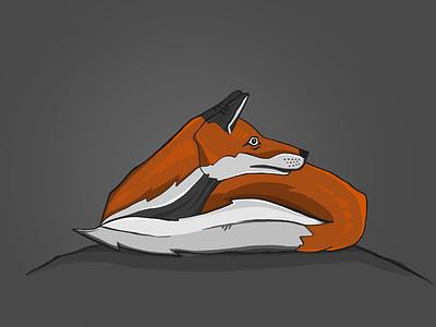 Fox gregorsart animal illustration procreate fox