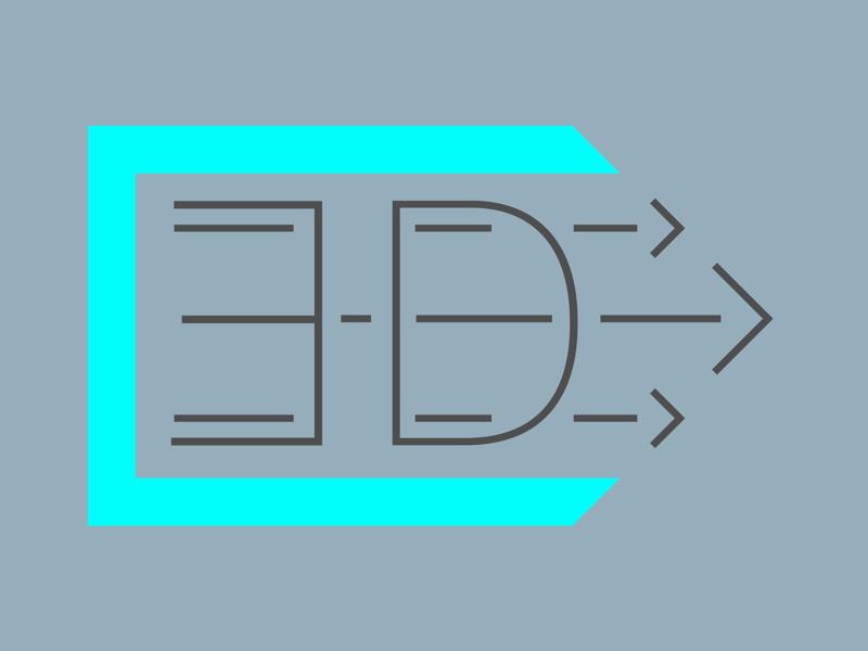 "Type Animation ""ED"" learning gregorsart animation logo branding type"