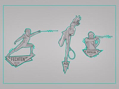 Sports tennis branding logo icon gregorsart sports illustration
