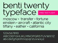 Benti Twenty Typeface + Free OTF