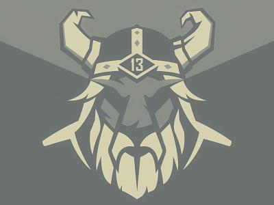 Rugby Logo & Process logo logotype sport rugby mascot viking man helmet