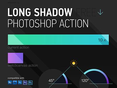 Free Long Shadow Photoshop Action shadow ios ui icon flat long shadow photoshop action