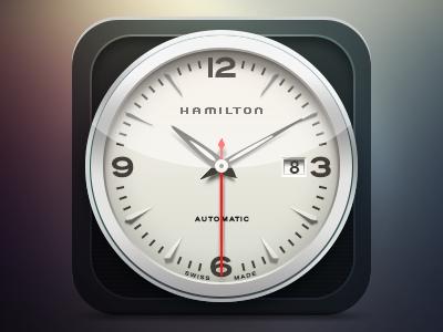 hamilton watch ui icon ios clock gradient iphone watch