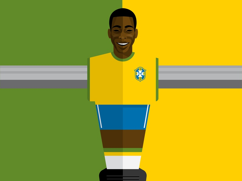 Pele vector soccer foosball pele design illustration