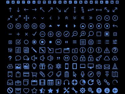 Elegant Icons - FREE icon font font icons freebie arrows social media ecommerce business ios7 responsive retina