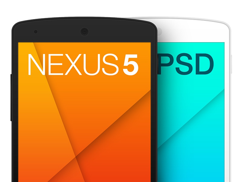 Nexus5 PSD Template nexus5 android template mockup free freebie psd phone mobile