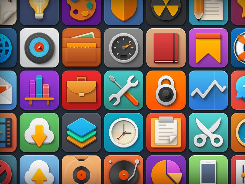 "Free Icon Set ""Softies"" icons softies freebie free business ecommerce illustration cloud music media education icon set"