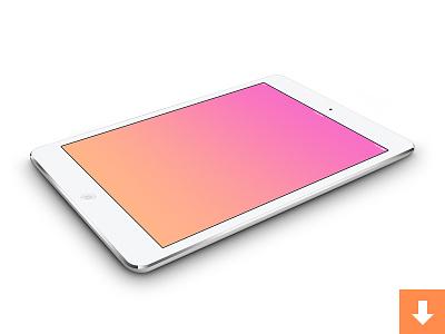 iPad mini PSDs template ipad mini tablet mockup device vectored free freebie psd