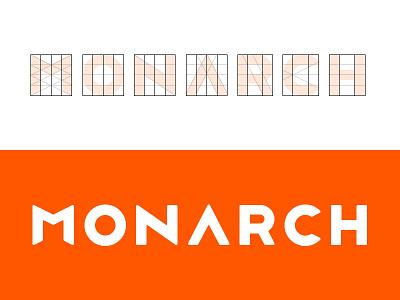 Monarch Logo logo type typography lettering logotype grid