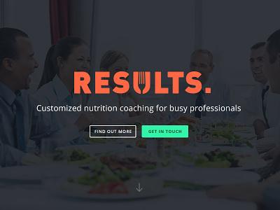Results Food Coaching Website / Logo food redesign branding wordpress landing page logo website