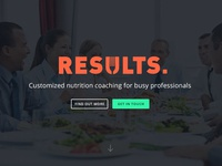 Results Food Coaching Website / Logo