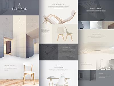 Gutterless Layout Exploration wordpress gutterless fullwidth landing page furniture website